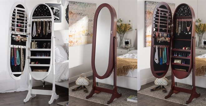 Free Shipping Cheval Mirror Jewelry Armoire Jane
