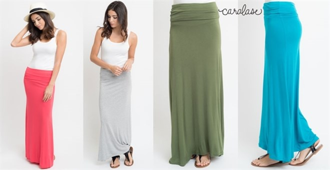 High Quality Solid Maxi Skirt | S-XL | Jane