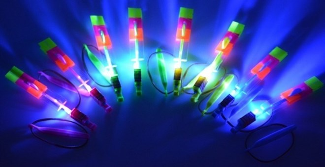 LED Light Up Toy Helicopter | Set of 4!