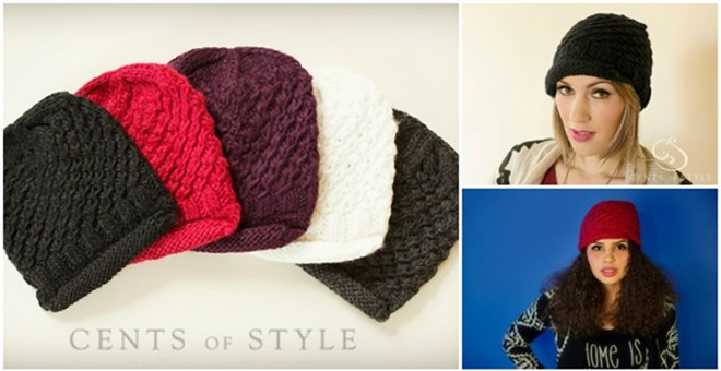 Knit Hat with Dainty Brim - Blowout Price! | Jane
