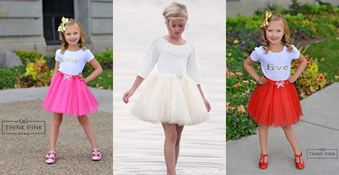 All That Shimmers Tulle Tutu Skirt - Valentine's Colors