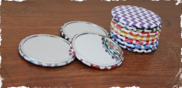 Adorable Chevron Pocket Mirrors- Perfect Stocking Stuffers!