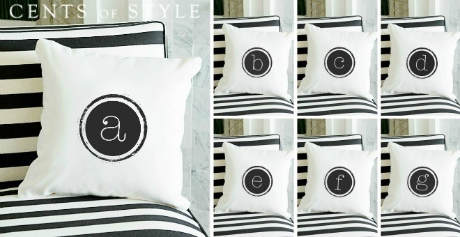 26 Letters Typewriter Canvas Pillow Covers Jane