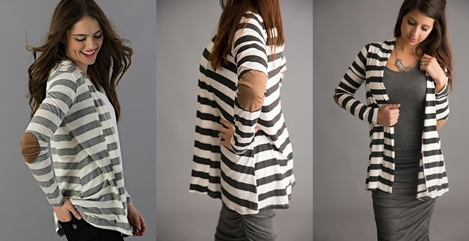 Light Weight Elbow Patch Cardigans