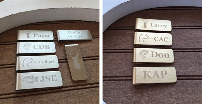 Customized Stainless Steel or Brass Money Clips