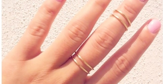 5 Dainty Midi Knuckle Rings