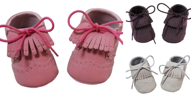 Fringed Baby Moccassins