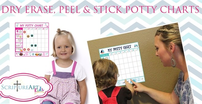 Adorable Peel & Stick Reusable Potty Charts