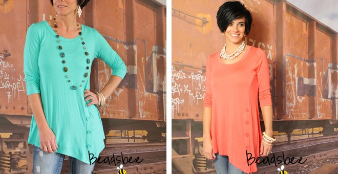 Beautiful Button Tunic – Small to XL!