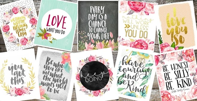 Lovely Uplifting Typography Prints