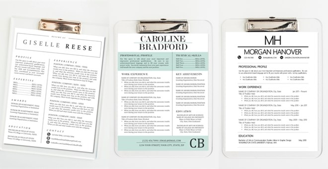 Modern Resume Template Pack | Cover Letter, References ...