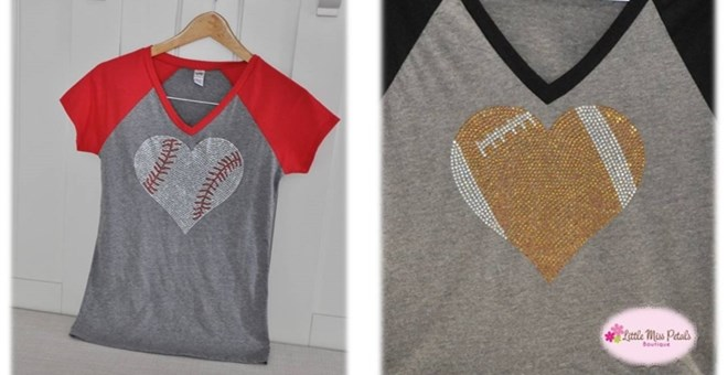 Sports Bling Short Sleeve Raglan | 5 Sports