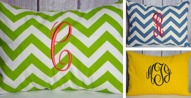 MONOGRAMMED PILLOW COVERS IN 36 BEAUTIFUL COLORS! | Jane