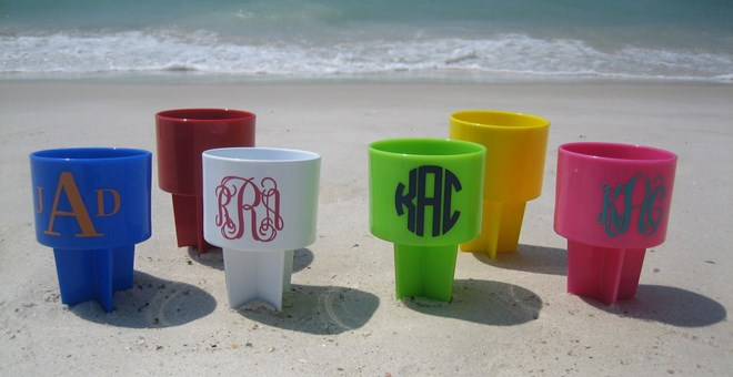 Beach Cup Holders - Personalized