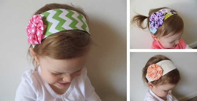 Children's Floral Fabric Headbands-New Colors!!