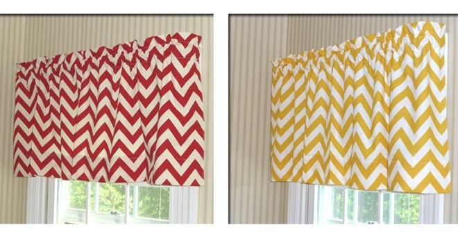 Designer Chevron Window Valances
