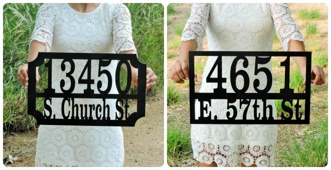 Customized Home Address Plaques