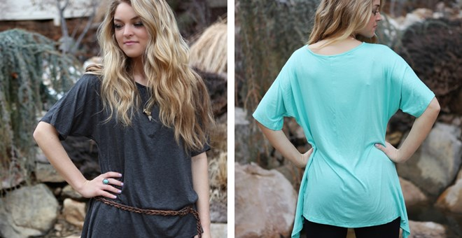 All Seasons Shop Asymmetric Tunic – 6 Colors!