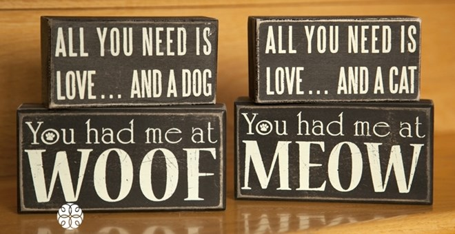Dog and Cat Quote Blocks! 4 Designs Available!
