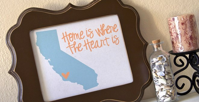'Home is Where the Heart is' State Prints