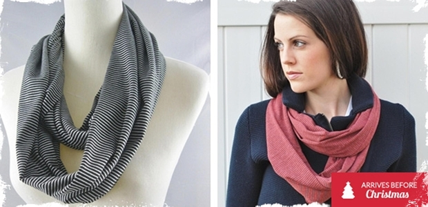 Striped Infinity Scarf - 5 Beautiful Colors!