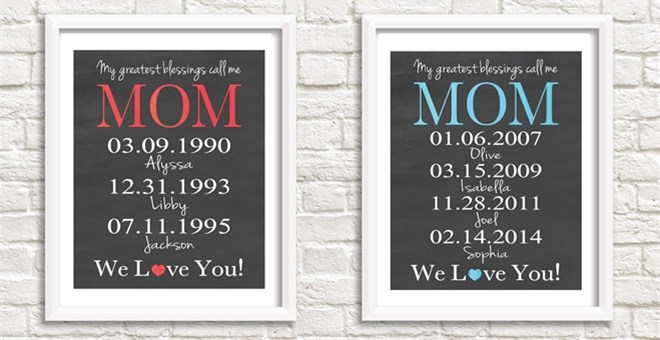Perfect Mother S Day Gift Personalized Art Print Jane