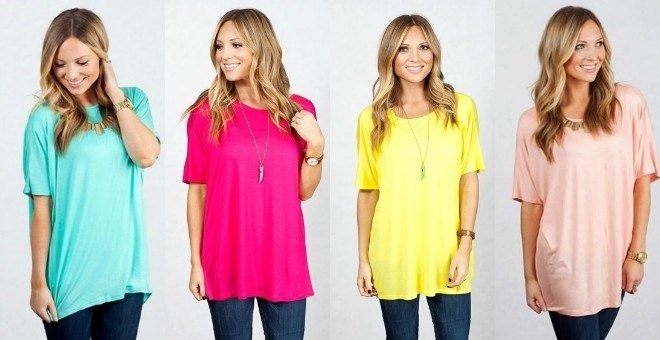 Short Sleeve Tunic New Spring Colors Jane