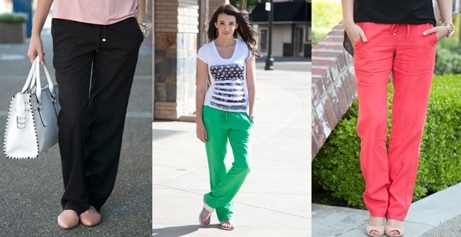 Drawstring Linen Pants! 8 Colors Available!