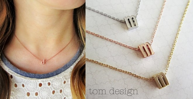 NEW Rose Gold, Silver, or Gold Lowercase Initial Necklace