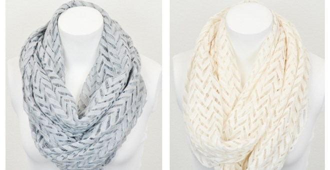 Trendy Lace Chevron Infinity Scarves In 3 Colors Jane