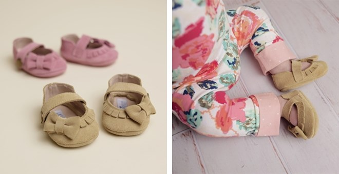 Suede Moccasin Style Baby Shoes | Jane