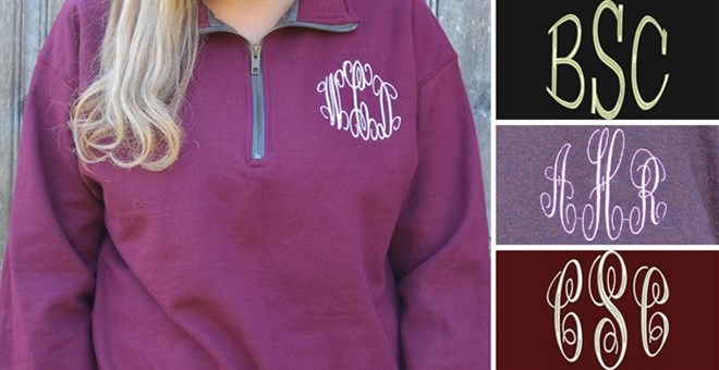 Monogrammed 1/4 Zip Fleece Blowout | 12 Colors