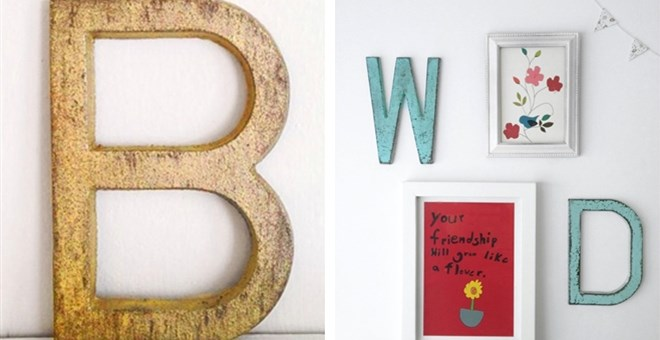 Rustic Metal Iron Letters   Jane