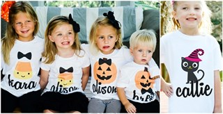 Personalized Halloween Tees for Kids / 11 Designs!