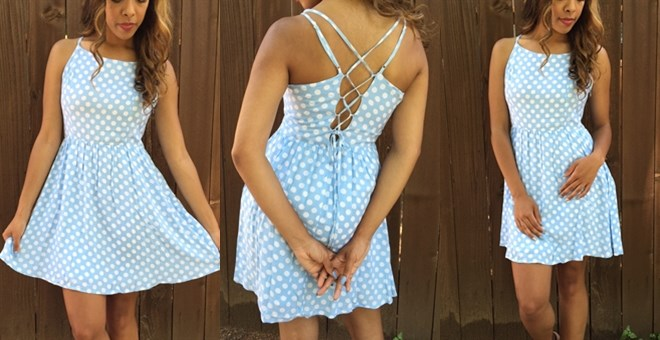 Must Have Polka Dot Dress | Baby Blue | Jane