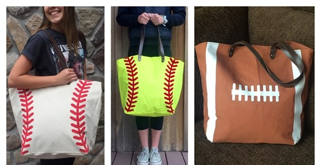 Sporty Canvas Totes | 5 Designs!