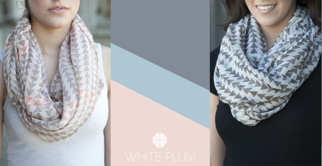 Aztec Triangle Infinity Scarves! 2 Color Options!