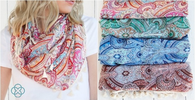 Tassel Detail Infinity Scarf Blowout | 4 Colors