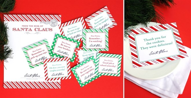 Personalized Printable Notes From Santa Jane