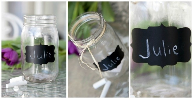 Chalkboard Glass Jars