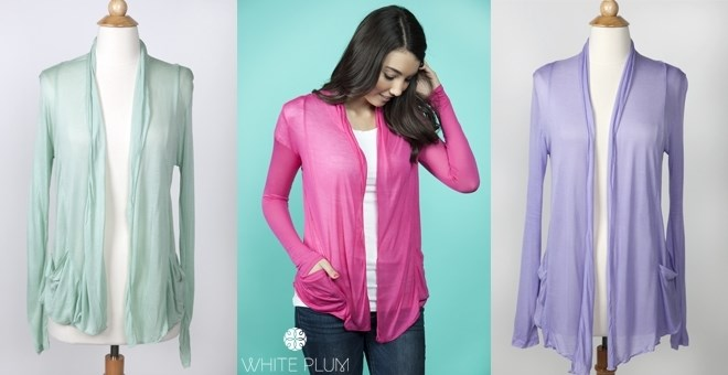 Spring Pocket Cardigan! S-3XL Sizing! 12 Color Options!