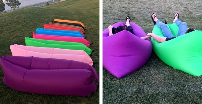 Quick Fill Inflatable Lounge Bed l 9 Colors