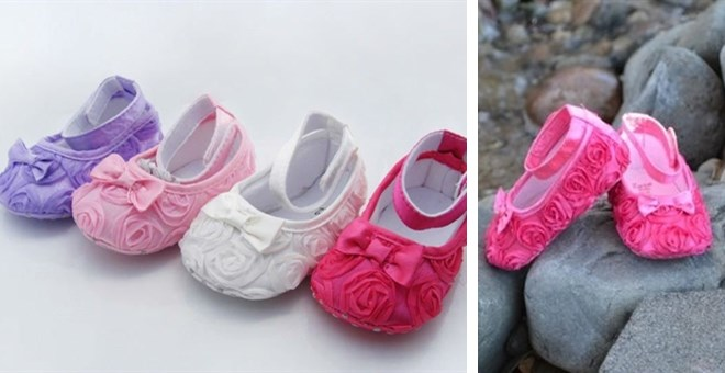 The Cutest Flower Shoes for Babies