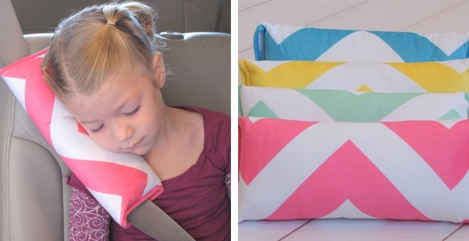 Chevron Travel Seatbelt Pillows, Super Soft and Comfy!