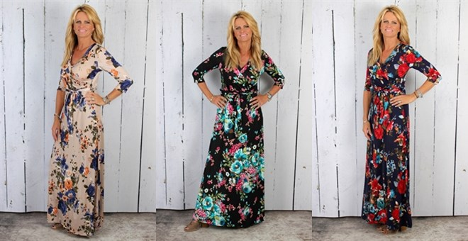 Vintage Floral Maxi Dress | 9 Colors