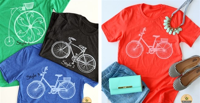 Vintage Bicycle Tees | 5 Colors!