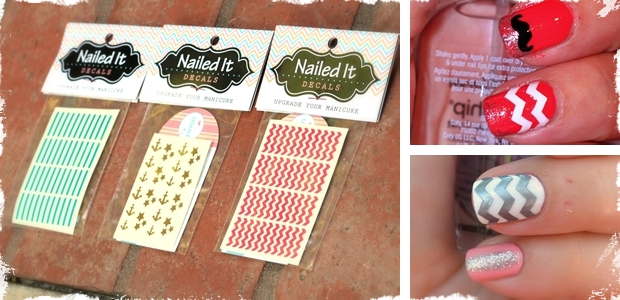 1 Sheet of Nail Decals: - Choose From 3 Styles and 21 Colors!