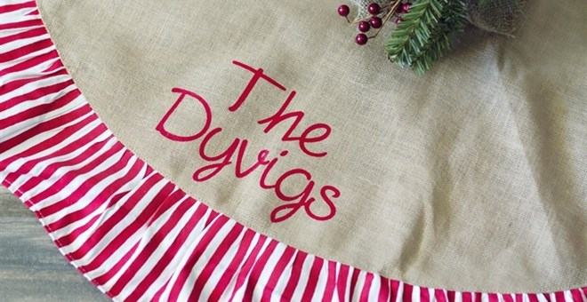 Personalized Christmas Tree Skirt