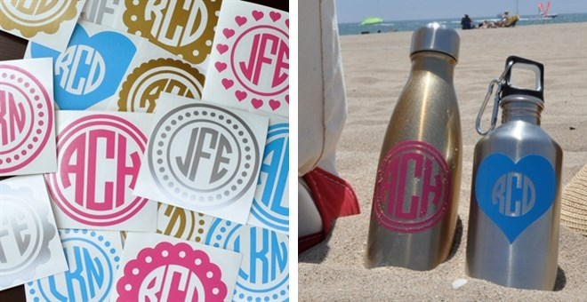 10 Pack of Monogram Decals