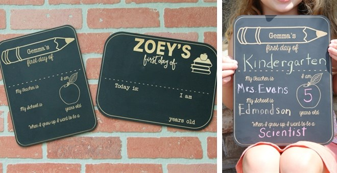 First Day of School Chalkboard / Personalized